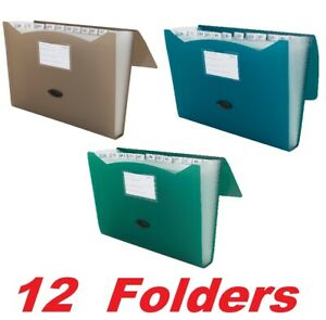 12 Mead 35013 Expanding File Folder 13 Pocket 9 1 4 x13 Document Organizer Tabs