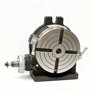 Vertex Hv 6 4 slot 6 Horizontal vertical Rotary Table With 4 slot Face Plate