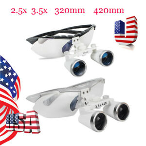 2 5x 3 5x Dental Surgical Binocular Loupes Magnifier Glasses For Led Headlight