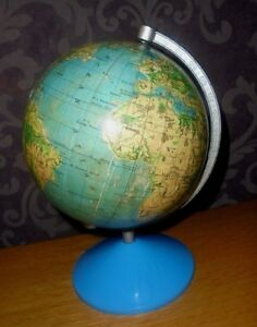 Earth Globe 1960 Cold War Polish School Globe