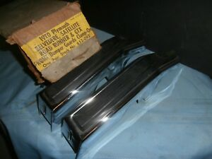 1970 Plymouth Belvedere Satellite Road Runner Gtx Front Bumper Guards Unused