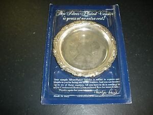 New Readers Digest Silver Plated Coaster Give Away 1988