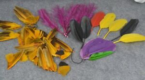 Millinery Feathers Colored Lot Edwardian Victorian Hat Trim Original