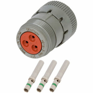 Hd16 3 96s Deutsch 3 Way Plug Connector Kit W 14 Awg Solid Contacts