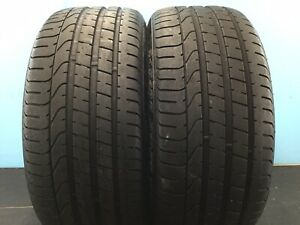 Set Of 2 Used Tires P245 35zr20 91y Pirelli P Zero No 2453520