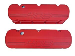 Big Block Chevy 402 Red Valve Covers