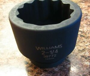 Williams 39772 2 1 4 1 inch Drive 12pt Impact Socket