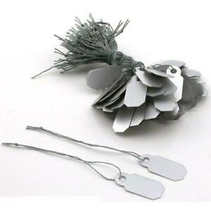 Arch Crown Silver Retail String Tags Jewelry Price Display Kit 6000 Pcs