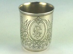 Antique Russian Sergey Agafonov Moscow 1873 Silver 84 Shot Cup