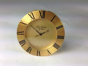 Mcm Jean Roulet Le Locle Traveling Desk Round Swiss Made Clock Original Box