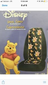 New 2 Pc Set Paradise Pooh Winnie Front Car Seat Covers Plasticolor Disney