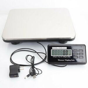 300kg 100g Lcd Digital Shipping Postal Scale Weigh Weighing Packaging Adapter