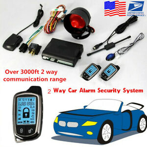 Universal 2 Way Anti Theft Lcd Long Distance Control Car Alarm Security System