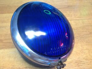 K d No 254 Emergency Vehicle Lamp K d 864 Blue Lens Fire Truck Light Vintage