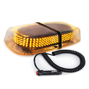 240 Led Light Amber Flashing Emergency Warning Strobe Light Bar Roof Top Yellow