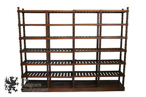 Monumental Early 20th C Antique Mission Oak Etagere Library Bookcase Shelf 115