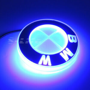 Motors Illuminated 4d Led Car Rear Tail Logo Badge Emblem Lights Fits Bmw Blue