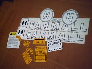 Farmall H Decal Set 1945 1952 Ih Mccormick Farmall