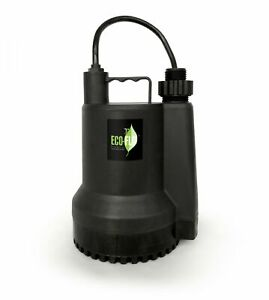 Eco Flo Sup54 1 6 Hp 1680 Gph Manual Submersible Thermoplastic Utility Pump