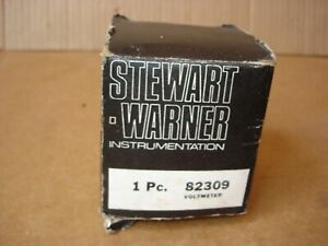 Vintage Nos Stewart Warner Black Face Voltmeter Rear Light Nascar Hot Rod 82309
