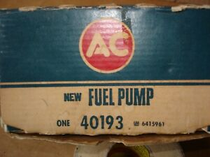 1965 1966 Chevelle Impala Nos Ac 40193 Fuel Pump 6415961 396 325 Hp 427 390 Hp
