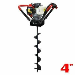 V type 55cc 2 Stroke Gas Post Hole Digger One Man Auger 4 6 8 10 12 Inch Bit