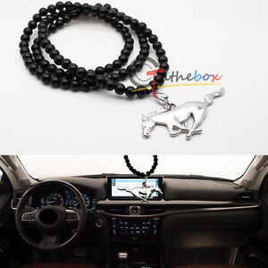 Jdm Pony Horse Car Rearview Mirror Hanging Ornament Pendant For Ford Mustang