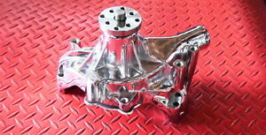Sbc Chevy Chrome Chevrolet Long Water Pump High Volume 350 400 Small Block