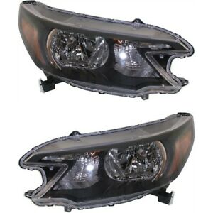 Headlight Set For 2012 2013 2014 Honda Cr v Left And Right With Bulb 2pc