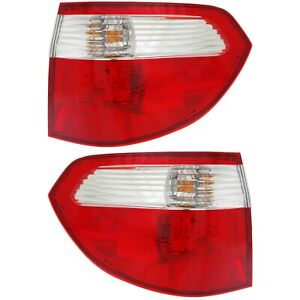 Tail Light For 2005 2007 Honda Odyssey Set Of 2 Driver And Passenger Side Outer