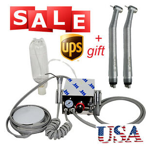 Usa Dental Turbine Unit Fit Air Compressor 4h 2x High Speed 4hole Handpiece Ce