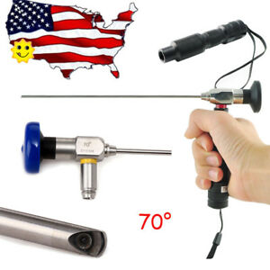 70 Endoscope 4mm X175mm Sinoscope Mirror Arthroscope Mini Led Cold Light Source