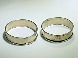 Antique Pair Of Gorham Sterling Silver Round Napkin Rings