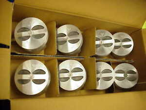 New Trw Sealed Power 350 Chevy Forged Flat Top Pistons L2256 030 Camaro