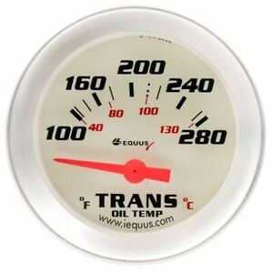 Equus 2 Electrical Transmission Temperature Gauge White Aluminum Bezel 8241