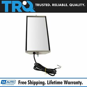 Trq West Coast Mirror Heated 16x7 Stainless Steel Left Or Right For Hd Truck