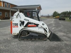 Bobcat T190 Skid Steer Loader Used Diesel Rubber Tracks