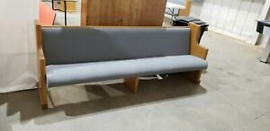 Blue Cusshioned Church Pew Bench Long Pew 10 1 2 Ft