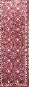 Remarkable All Over Floral Sarouk Persian Red Runner Rug Oriental Wool 3x9