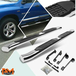 For 02 09 Dodge Ram Crew Cab Curved 4 Side Step Nerf Bar Running Board Chrome