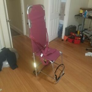 Used Ferno Combination Stretcher Chair Model 107 b4 With 4 Wheels