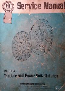 Farmall International Crawler Tractor Steering Engine Clutch Service Manual Ih