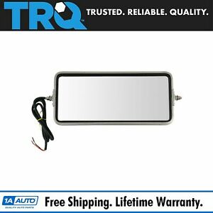 Oe Style Mirror Turn Signal 16x7 Stainless Steel Lh Or Rh For Heavy Duty Truck