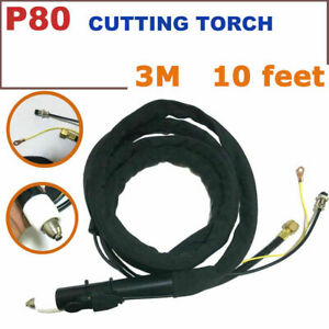 P80 Panasonic Air Plasma Cutter Cutting Torch Sraight Head With 3m 10 Feet Cable