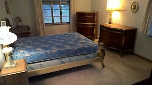 Vintage French Provencial Inlaid 5 Pc Bedroom Set