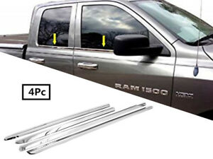 For 2009 2019 Dodge Ram 1500 Quad Cab Stainless Steel Chrome Window Sill Trim