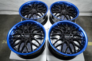 17 Blue Wheels Fits Hyundai Elantra Mitsubishi Eclipse Galant Lancer Civic Rims