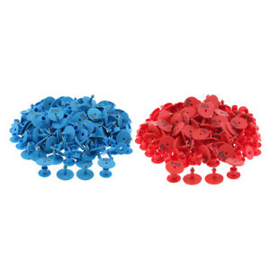 200pcs Numbered Ear Tag For Pig Cow Cattle Goat Sheep Blue Red