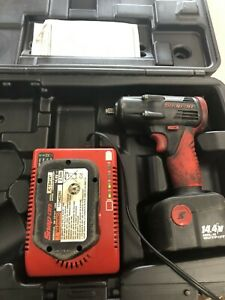 Snap On Ct4410a Volt 3 8 Drive 14 4v Cordless Impact 2 Batteries And Charger