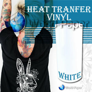 Heat Transfer Vinyl heat Press Iron On 15 X 5yd White